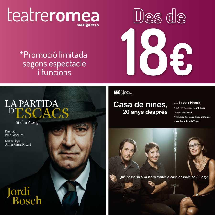 la partida d'escacs casa de nines teatre romea barcelona